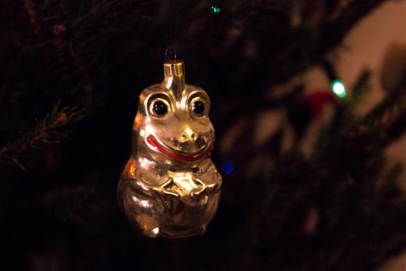 festive frog
