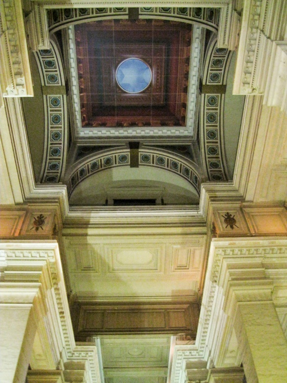 the ceiling of the law courts
