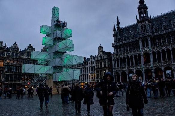 Brussels' christmas tree