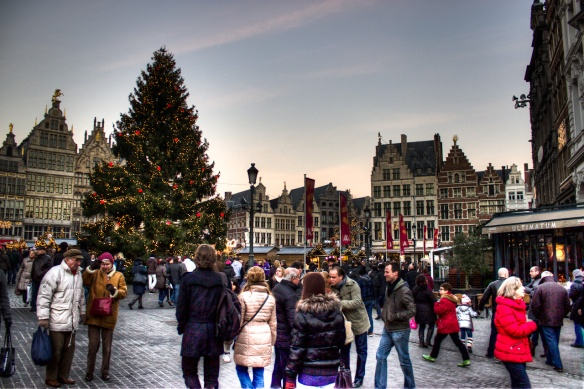 christmas market in Antwerpen